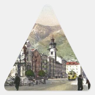 Innsbruck spårvagn i Maria Theresa Starsse Triangelformat Klistermärke