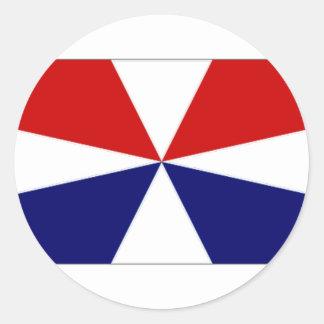 Inofficiell flagga Nederländerna för borgerlig Runt Klistermärke