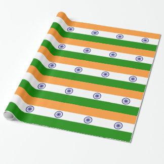 Inpackning av papper med flagga av Indien Presentpapper