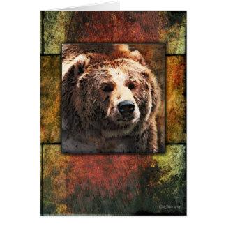 Inramad Grizzly Hälsningskort