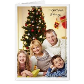 Inramat kort för foto för julvälsignelser