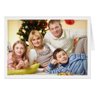 Inramat kort för julvälsignelsehorisontalfoto