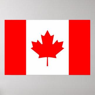 Inramat tryck med flagga av Kanada