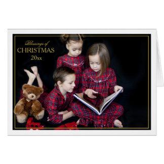 Inramat vikt kort för jul välsignelser