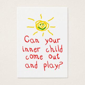 Inre barnroligtkort visitkort