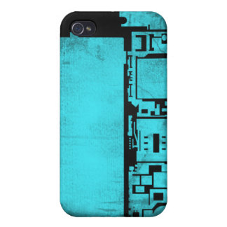 Inre iPhonefodral 4/4s för elektronik (blått) iPhone 4 Cover