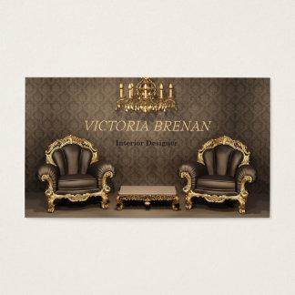 Inre märkes- hem för möblemangdekoratörklassiker visitkort