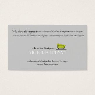 Inre märkes- stylist för soffahusdekoratör visitkort