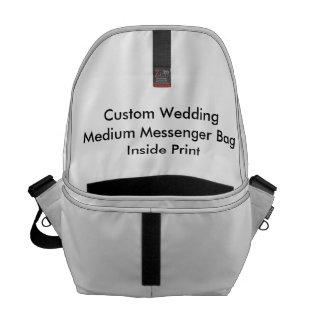 Inre tryck personligt bröllpför medelmessenger bag kurir väskor