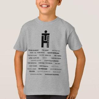Inre världsomspännande för lagmänniska (27 språk!) tee shirts