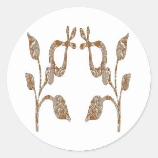 Inristade juvlar för GLIMTguld n silver Runt Klistermärke