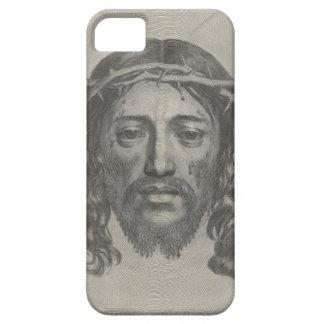 Inristat ansikte av den Jesus Kristus av Claude iPhone 5 Case-Mate Fodral