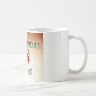 Insecticidal galning (grönaktig text) kaffemugg