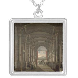 Insida av den Sanktt-Lazare Garen Silverpläterat Halsband