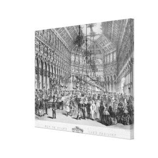 """Insida av """"den storslagna cafen Parisien"""", Paris Canvastryck"""