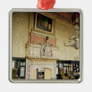 Insida av det Venetian teckningrummet Silverfärgad Fyrkantigt Julgransprydnad