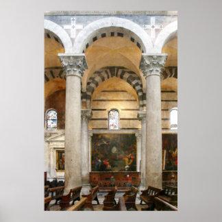 Insida av domkyrkan av Pisa Poster