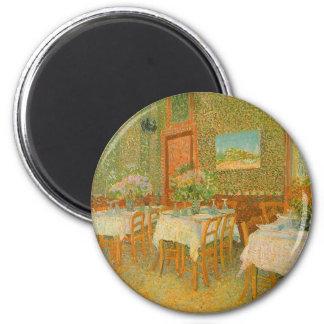Insida av en restaurang av Vincent Van Gogh Magnet