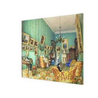 Insida av ett vardagsrum, 1847 canvastryck