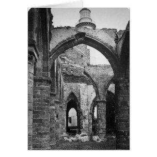 Insida av frankrike~ 1856 för St. Mathieu Hälsningskort