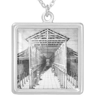 Insida av gammala St Peter, Rome Silverpläterat Halsband