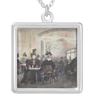 Insida av konsertrougen silverpläterat halsband