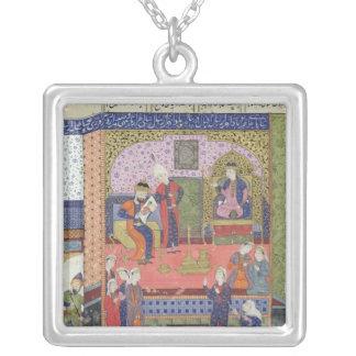 Insida av kungen av Persien slott Silverpläterat Halsband