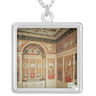 Insida av Napoleons badrum som byggas i 1807 Silverpläterat Halsband