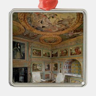 Insida av 'Sallen Louis XIV Silverfärgad Fyrkantigt Julgransprydnad