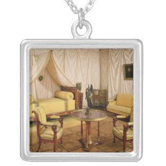 Insida av sovrummet av Napoleon mig 1800-03 Silverpläterat Halsband
