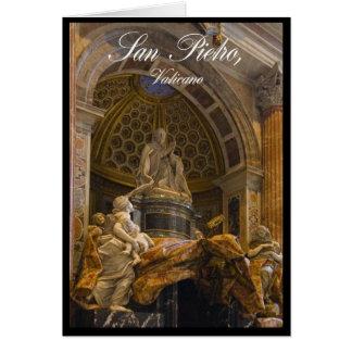 Insida av Sts Peter Basilica i Vatican Hälsningskort