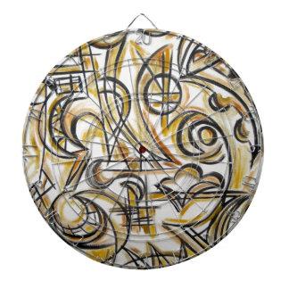 Insida som denAbstrakt konsten räcker målat Piltavla