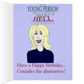 Insida varje åldringfödelsedagkort jumbo kort