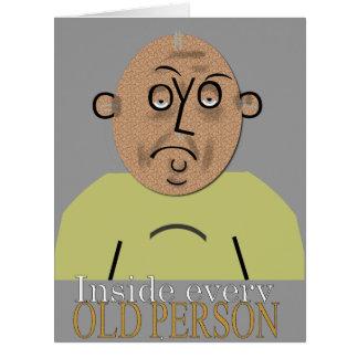 Insida varje MALL för åldringfödelsedagkort Jumbo Kort