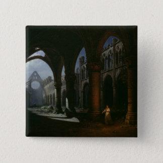Insidan av en Abbey fördärvar in, 1848 Standard Kanpp Fyrkantig 5.1 Cm