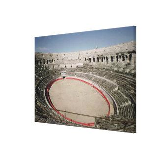 Insidan beskådar av amfiteatern canvastryck