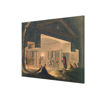 Insidan beskådar av catacombsna på Alexandria, pla Canvastryck