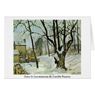 Insnöade Louveciennes av Camille Pissarro Hälsningskort