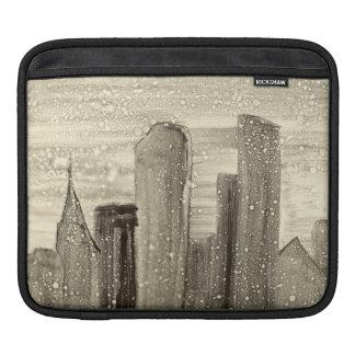 Insnöat grå färg och viten för Sepia för Sleeves För iPads