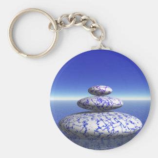 Inspiration för fred för kärlek för hav för rund nyckelring