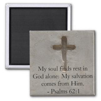 Inspirera 62:1 för bibelcitationsteckenPsalms Magnet