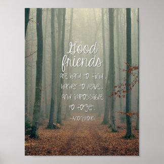 Inspirera affisch för bra vänner