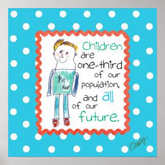 Inspirera affisch med barnkonst av ett barn