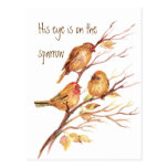 Inspirera är hans öga på sparrowen, vykort