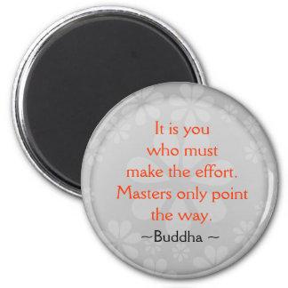 Inspirera Buddha citationsteckenmagnet