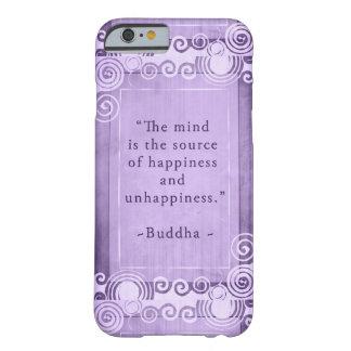 Inspirera Buddha citationsteckentypografi Barely There iPhone 6 Fodral