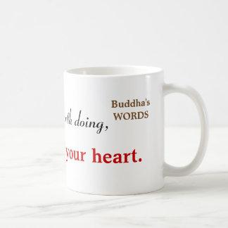 Inspirera Buddha citationsteckentypografi Kaffemugg
