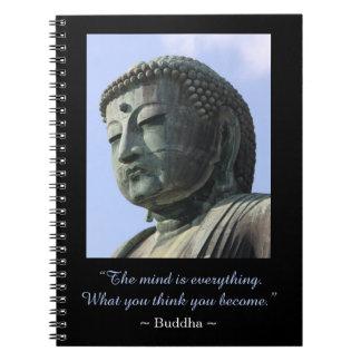 Inspirera Buddha fotocitationstecken Anteckningsbok