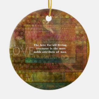 Inspirera Charles Darwin djurens Julgransprydnad Keramik