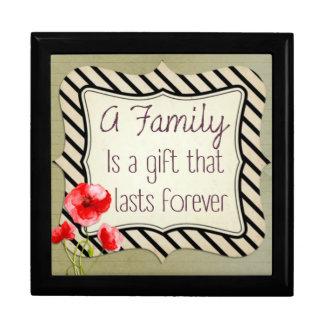 Inspirera citationstecken för familj smyckeskrin